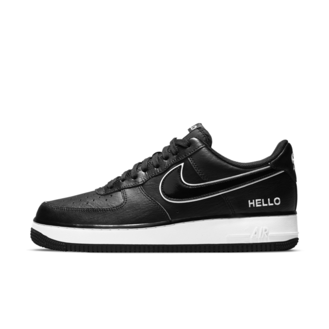 Nike Air Force 1 'Hello My Name is' - Black zijaanzicht