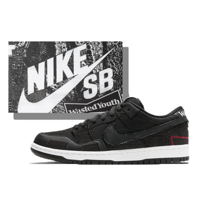 Nike SB Nike SB x Wasted Youth Dunk Low Black (Special Box) (2021)