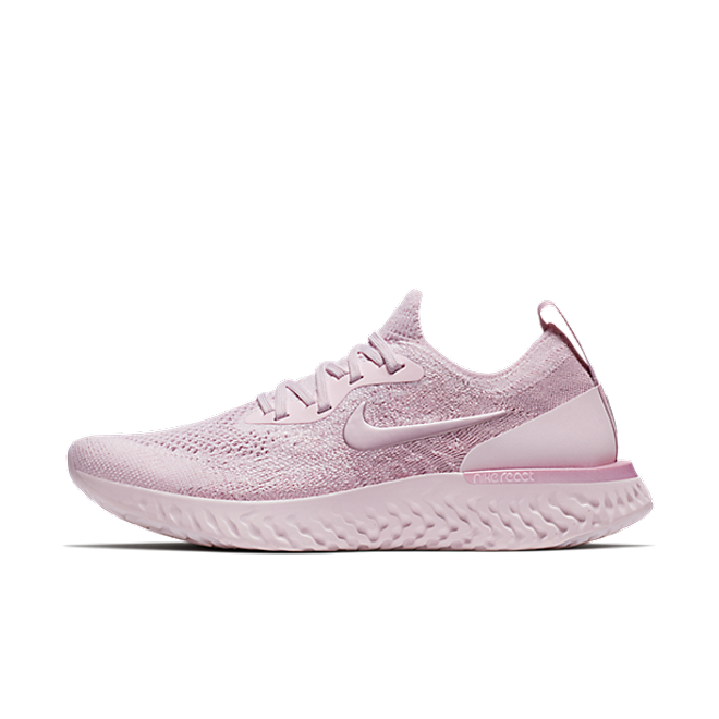 Nike WMNS Epic React Flyknit 'Pearl Pink' zijaanzicht