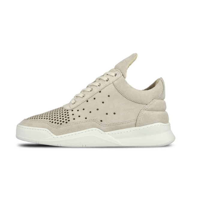 Filling Pieces Filling Pieces Low Top Gradient Perforated Beige
