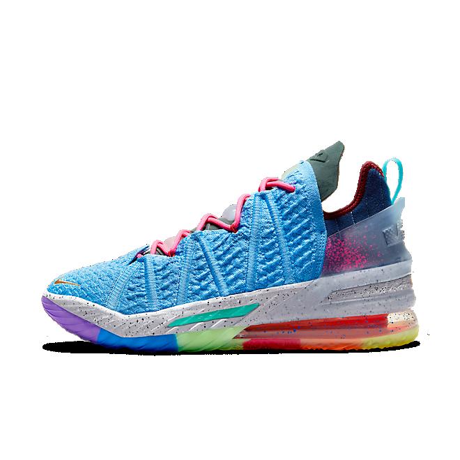 Nike LeBron 18 Light Blue Multicolor