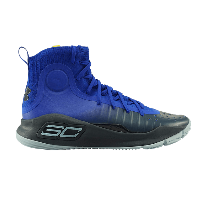 Under Armour Curry 4 Mid Blauw Geel (GS)