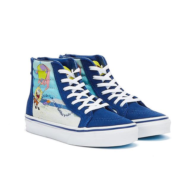 Vans x Spongebob Sk8-Hi Zip Best Buddies 4 life Junior Blue Trainers