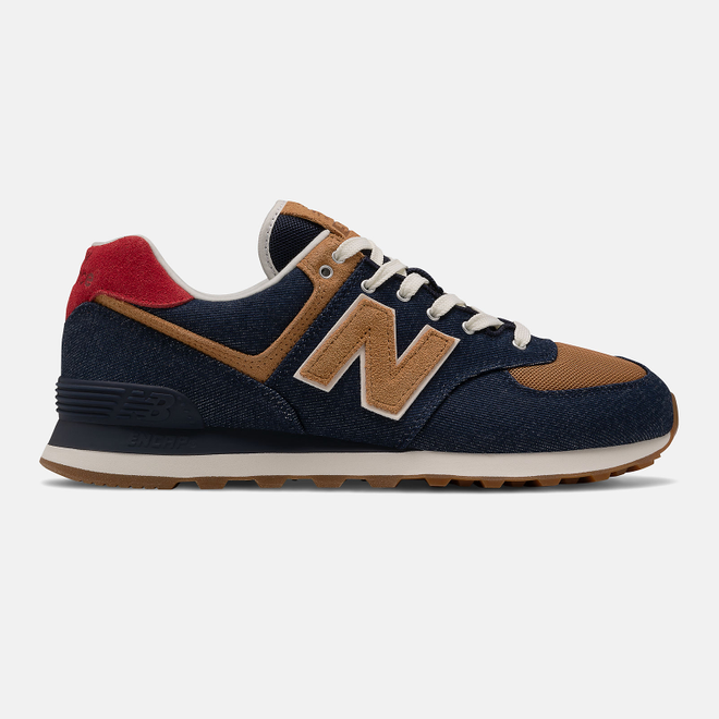 New Balance 574 - Pigment with Team Red