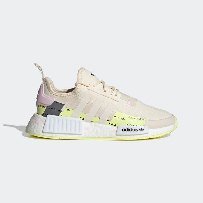 adidas NMD R1 Wonder White Pulse Yellow Pink (W)