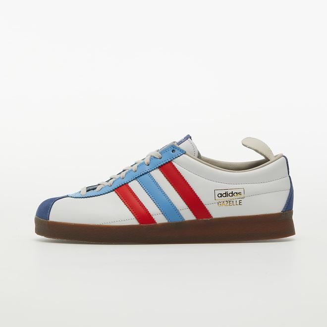 adidas Gazelle Vintage Crystal White/ Vivid Red/ Light Blue