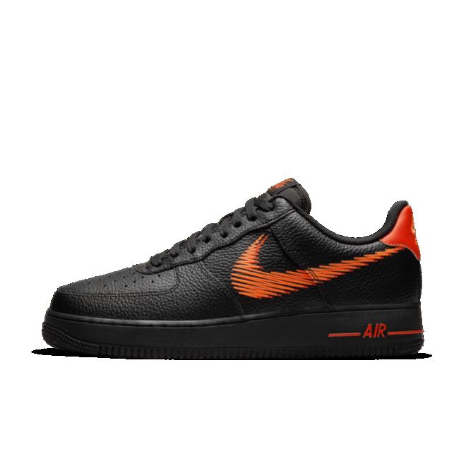 Nike Air Force 1 Zig-Zag 'Black' zijaanzicht