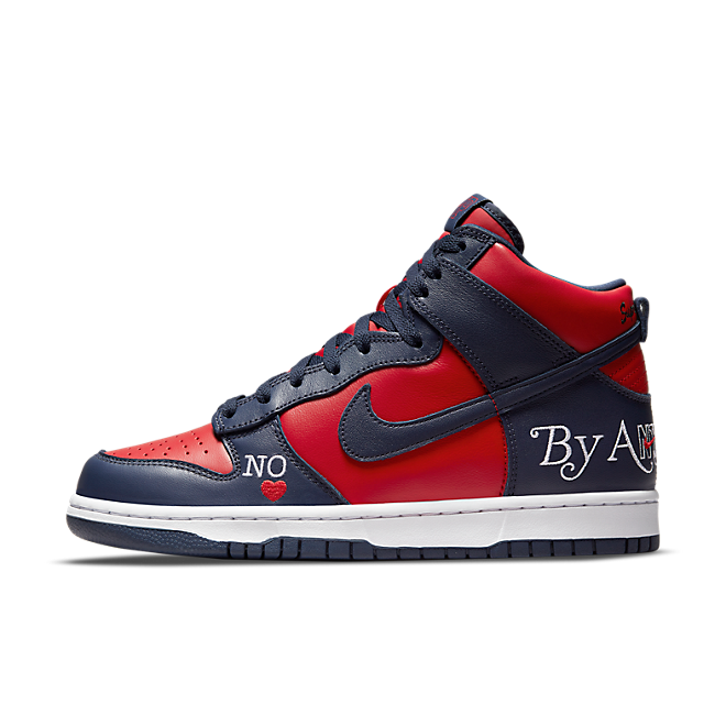 Supreme X Nike Dunk 'Navy/Red'