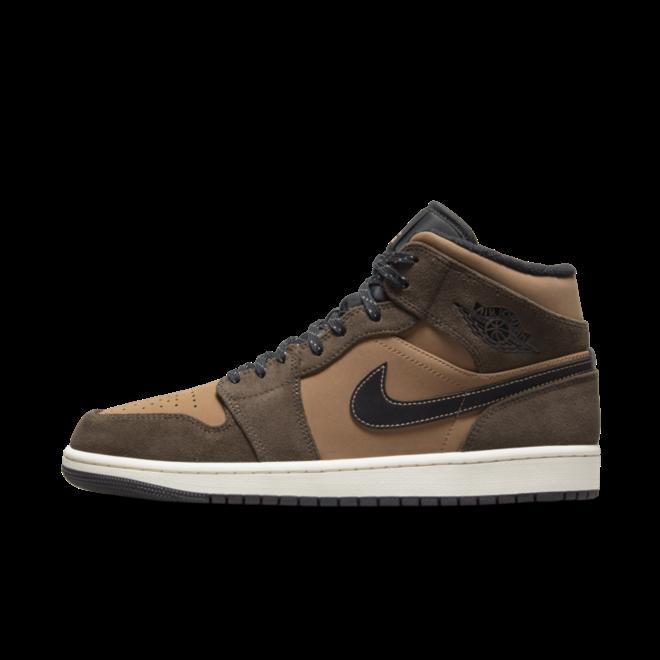 Air Jordan 1 Mid 'Brown' zijaanzicht
