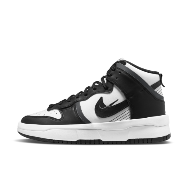 Nike Dunk High Rebel 'Black & White' zijaanzicht