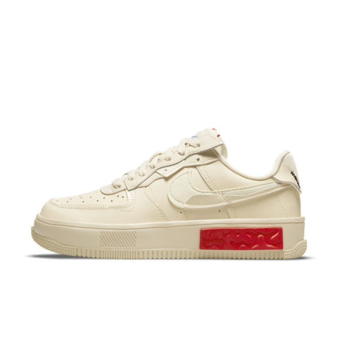 Nike Air Force 1 Fontanka 'Pearl White' zijaanzicht