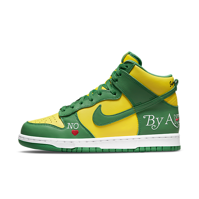 Supreme X Nike SB Dunk High 'By Any Means' - Brazil