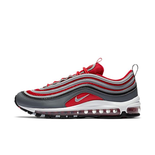"Nike Air Max 97 ""Wolf Grey/Gym Red-White"""