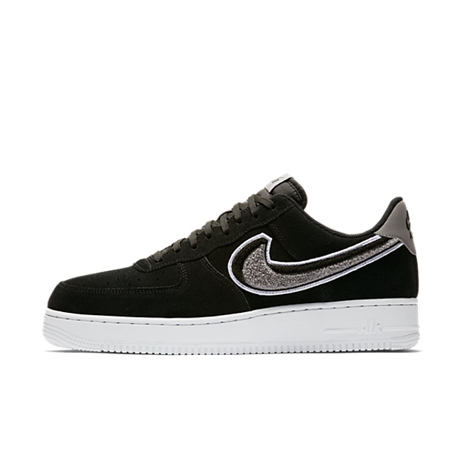 Nike Air Force 1 07 LV8 Chenille Swoosh 'Black'