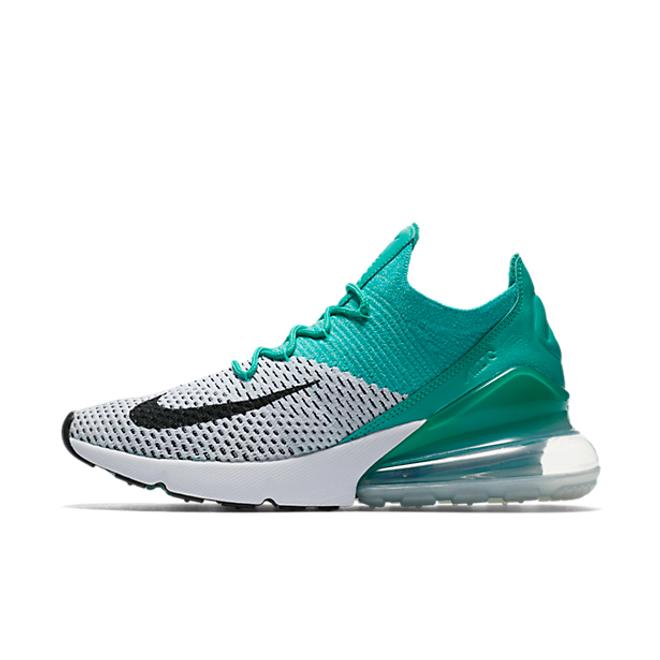Nike WMNS Air Max 270 Flyknit 'Clear Emerald' zijaanzicht