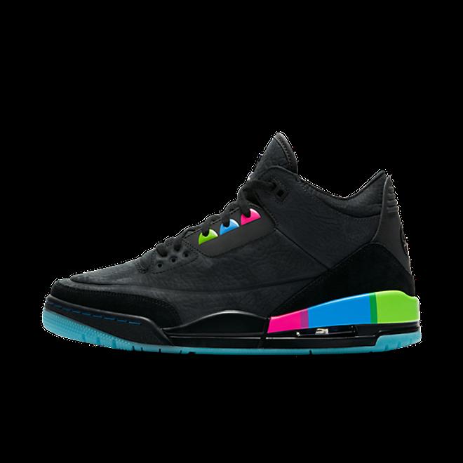 Jordan 3 Retro Quai 54 Black Multi zijaanzicht