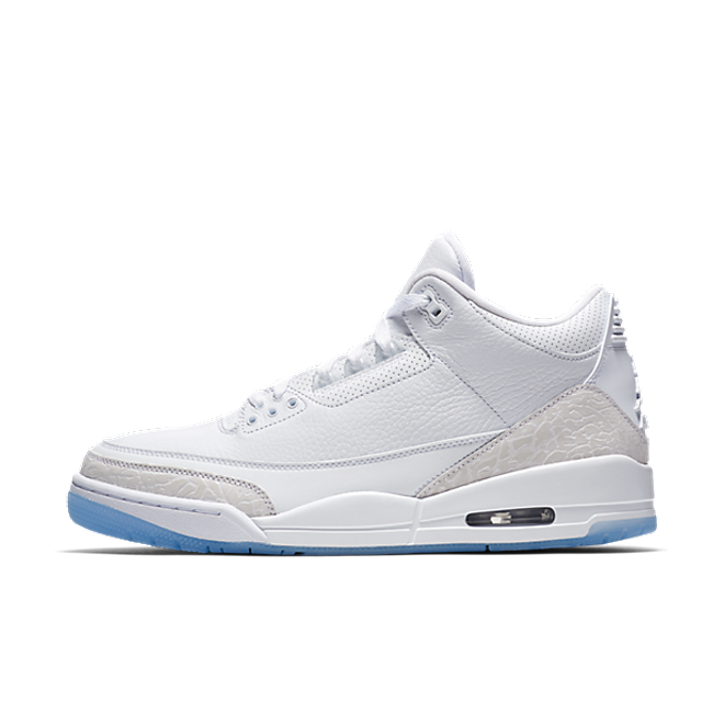 Air Jordan 3 Pure White zijaanzicht