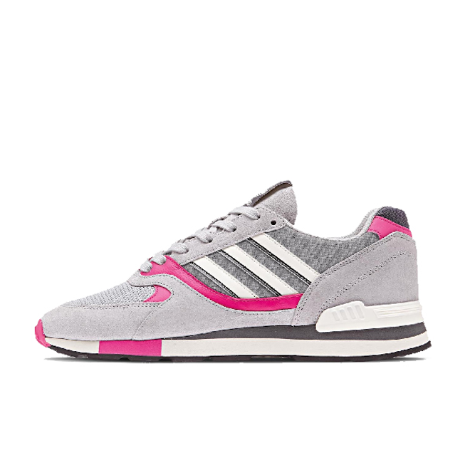 "adidas Originals Quesence ""Grey Two/Shock Pink"" zijaanzicht"