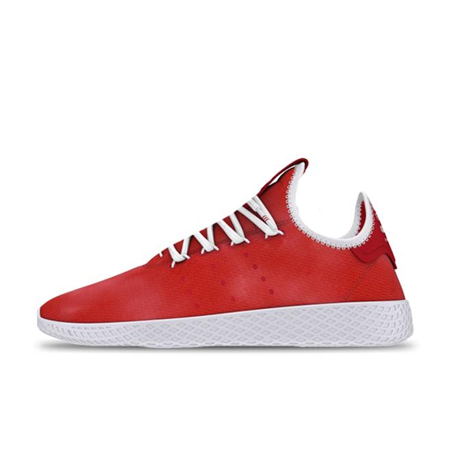 Pharrell x adidas Tennis Hu Holi Festival Red zijaanzicht