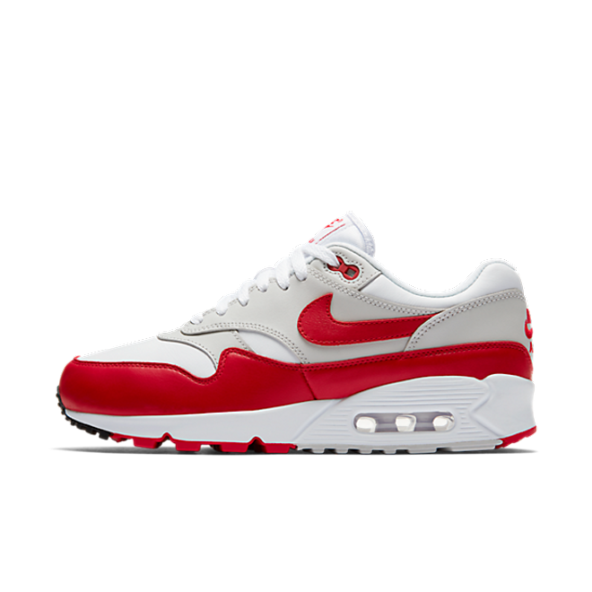 Nike Wmns Air Max 90/1 'White / University Red - Neutral Grey - Black'