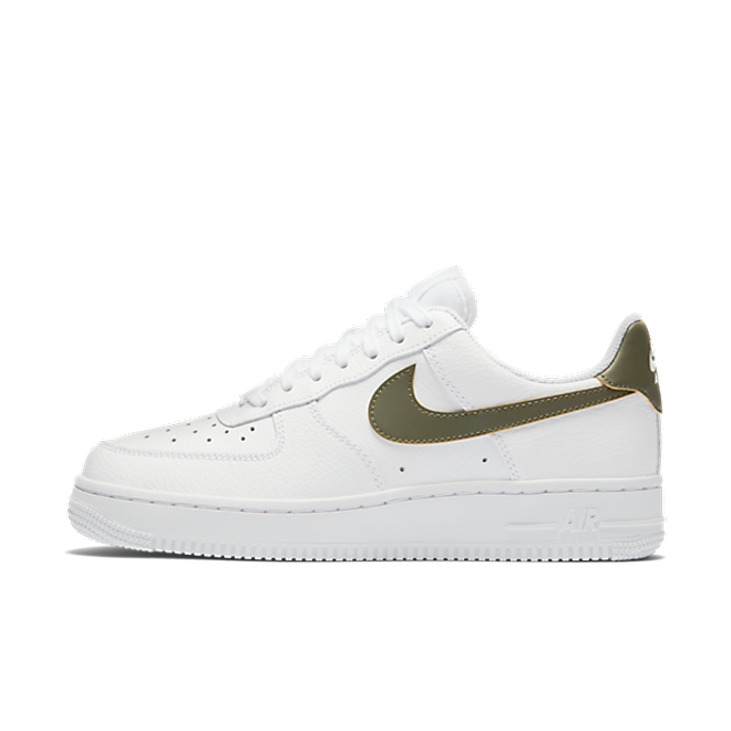 Nike Women's Air Force 1 '07 'White/Medium Olive' zijaanzicht