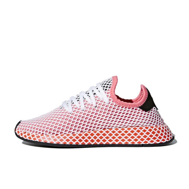 adidas Deerupt 'Chalk Pink/Bold Orange' zijaanzicht