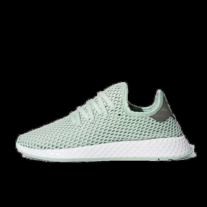 B37680 Adidas Originals Deerupt Women Shoes Ash GreenTech Silver