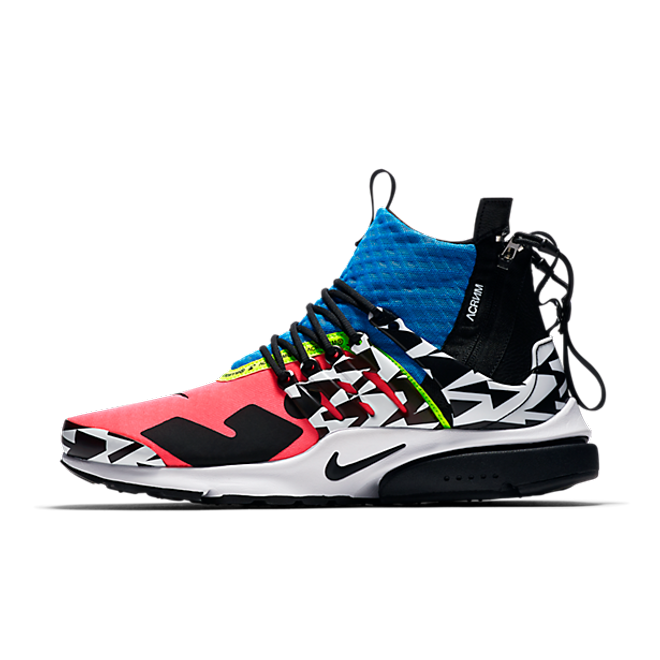 Acronym x Nike Air Presto Mid 'Racer Pink' zijaanzicht