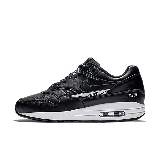 Nike WMNS Air Max 1 Just Do It 'Black' zijaanzicht