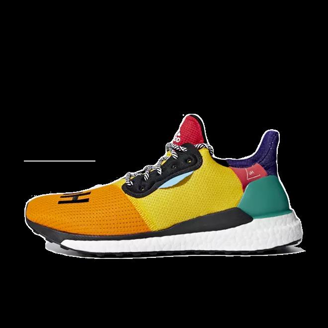 adidas Womens Pharrell Williams Solar Hu Glide 'Bold Gold'