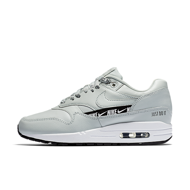 sports shoes 33754 f0de6 Nike Air Max 1 Just Do It  Light Silver
