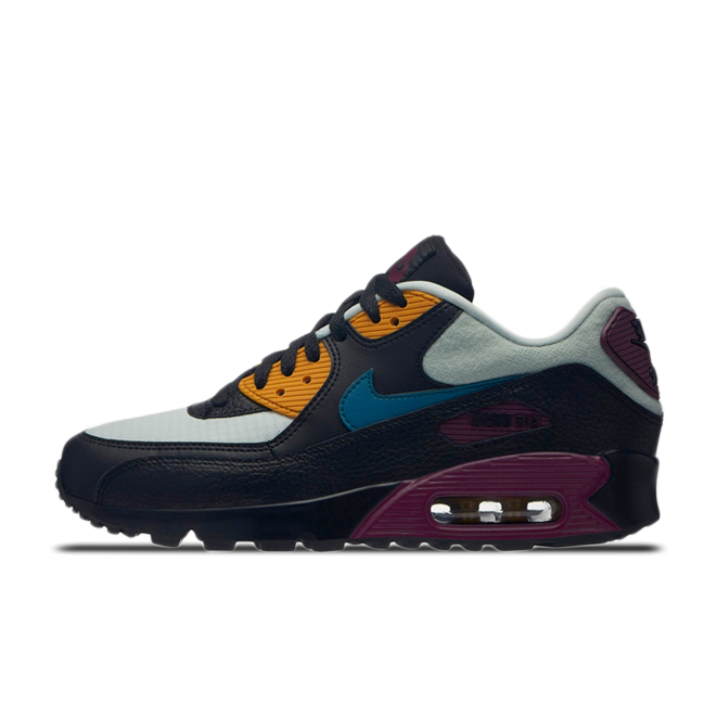Nike Women's Air Max 90 Light SilverGeode Teal Bordeaux