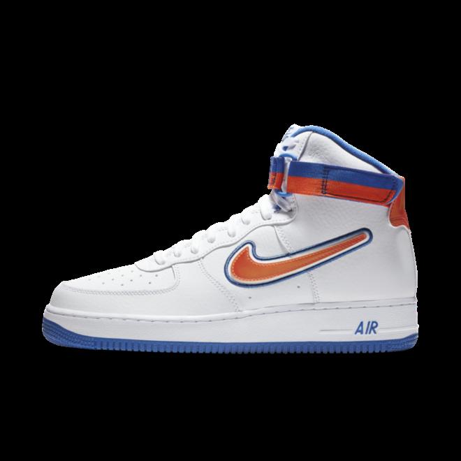 Nike Air Force 1 High NBA Sport pack 'Knicks zijaanzicht