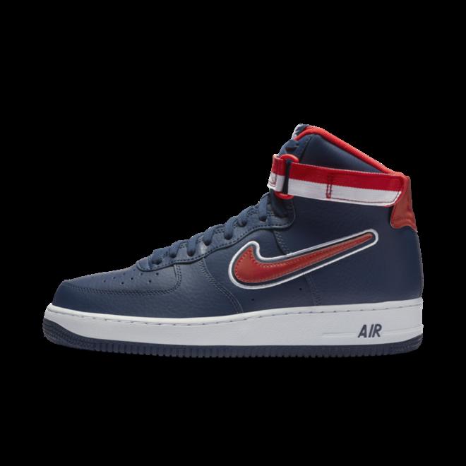 Nike Air Force 1 High NBA Sport pack 'Washington Wizards' zijaanzicht