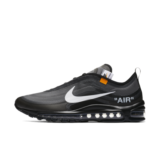 Off-White X Nike Air Max 97 'Black' US EXCLUSIVE zijaanzicht