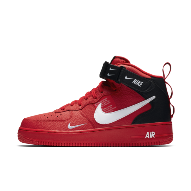 Nike Air Force 1 Mid '07 LV8 Utility 'Red' zijaanzicht