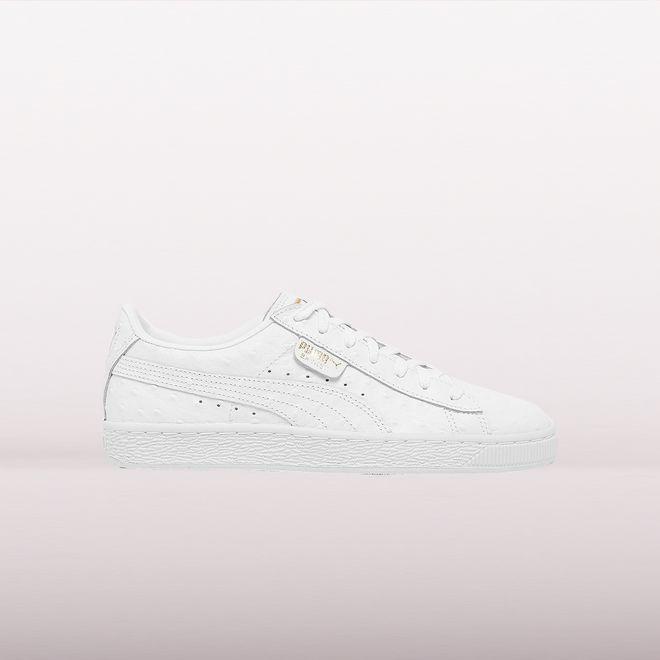 watch e4291 9d9c0 Puma Basket Ostrich White Wmns | 366727-02 | Sneakerjagers