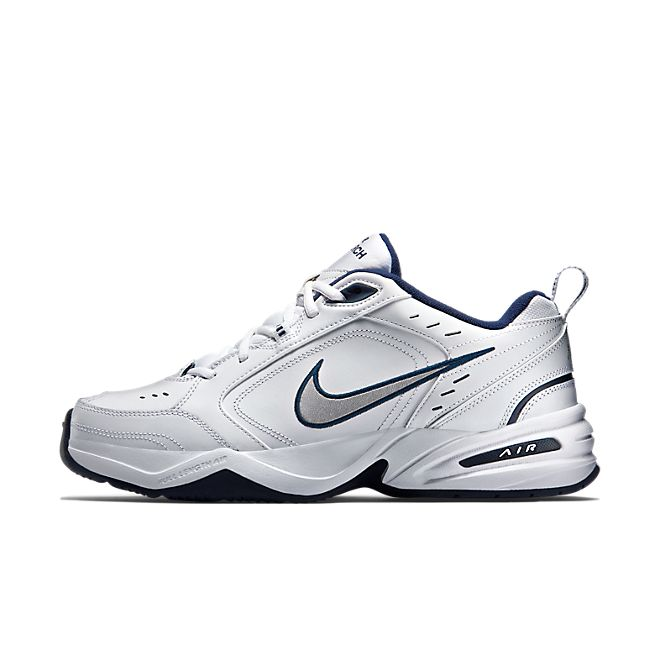 Nike Air Monarch IV White Metallic Silver