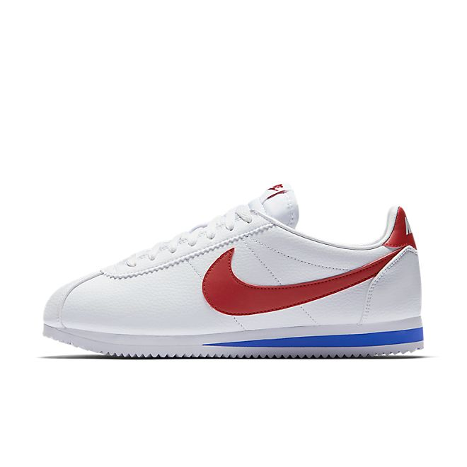 Nike Classic Cortez Leather - White / Varsity Royal / Varsity Red