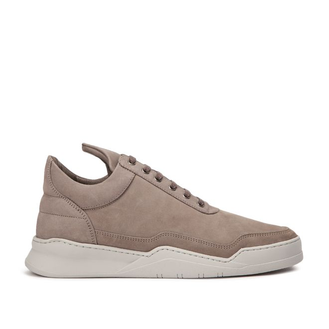 Filling Pieces Low Top Ghost Matt Nubuck