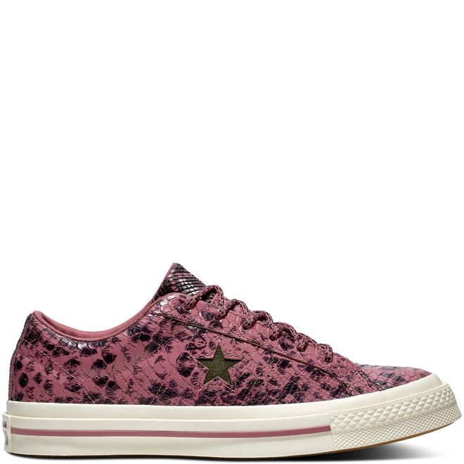 One Star Reptile Leather Low Top