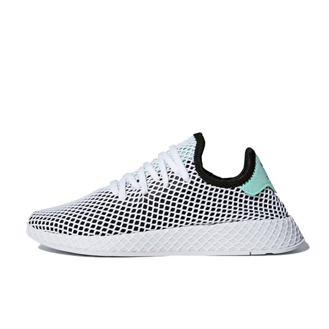 adidas Deerupt 'Core Black/Easy Green' zijaanzicht