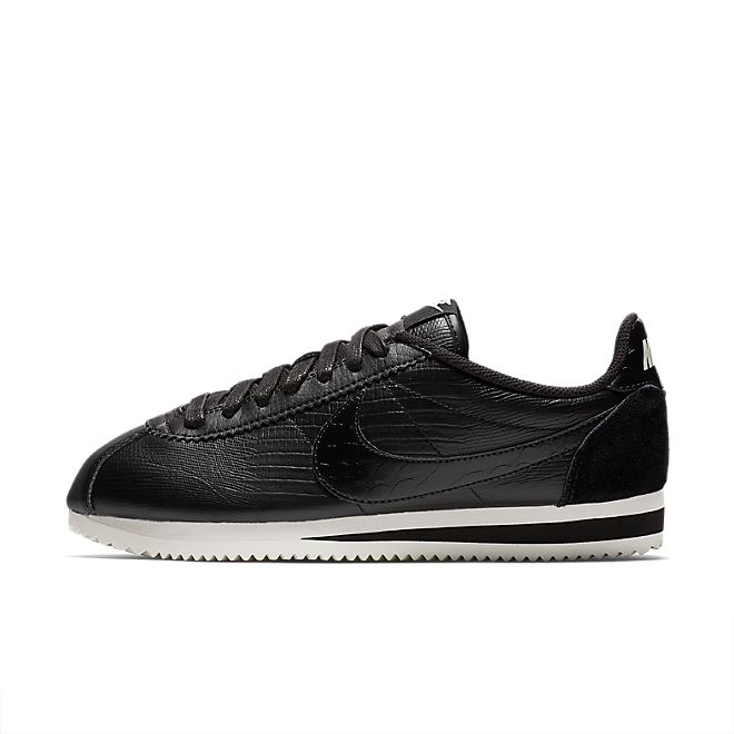 Nike Classic Cortez Leather Premium Womens - Black Phyton