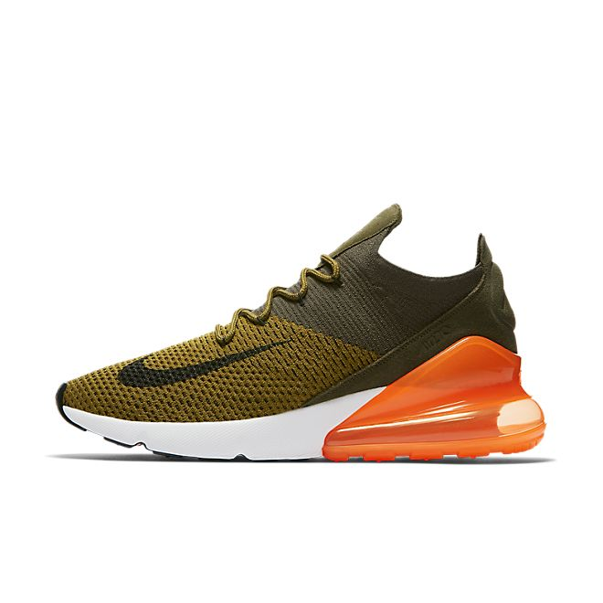 Nike Air Max 270 Flyknit Olive Flak | AO1023 301