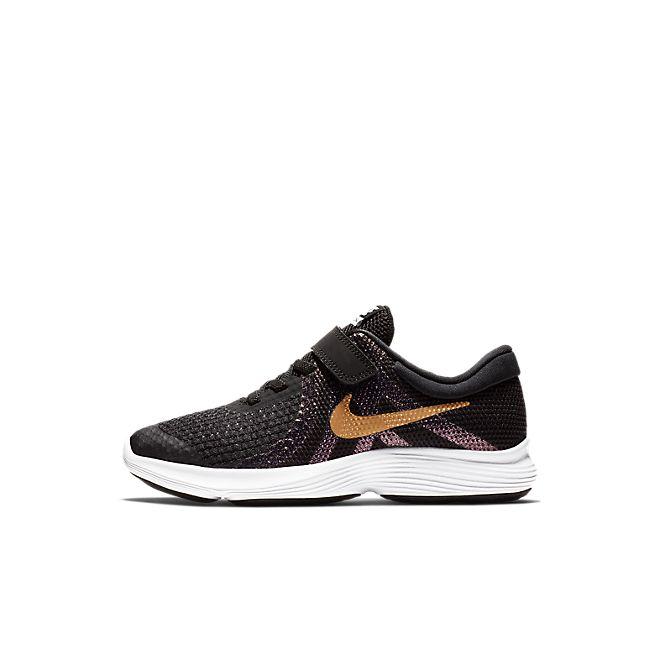 Nike Revolution 4 Shine Kleuterschoen - Zwart
