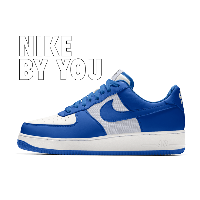 Nike Air Force 1 Low - By You zijaanzicht