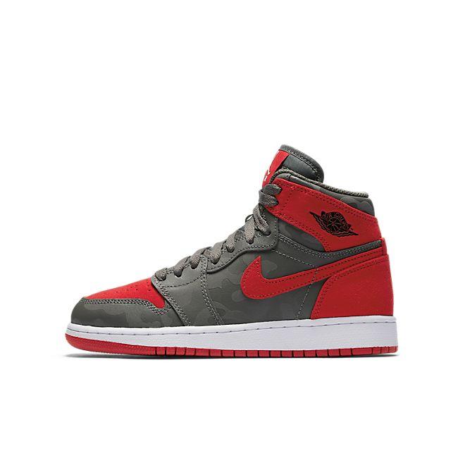 Nike Air Jordan 1 Retro Hi Prem BG (Grey/Red))