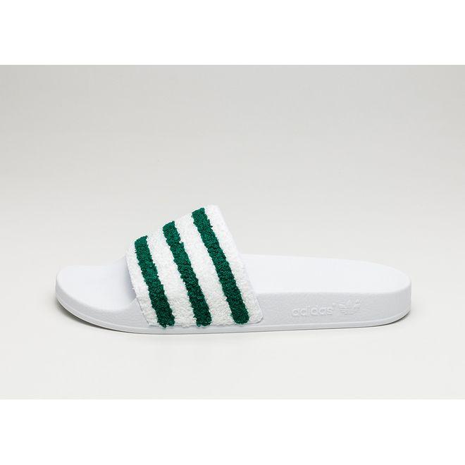 adidas Adilette (Ftwr White / Sub Green / Ftwr White)