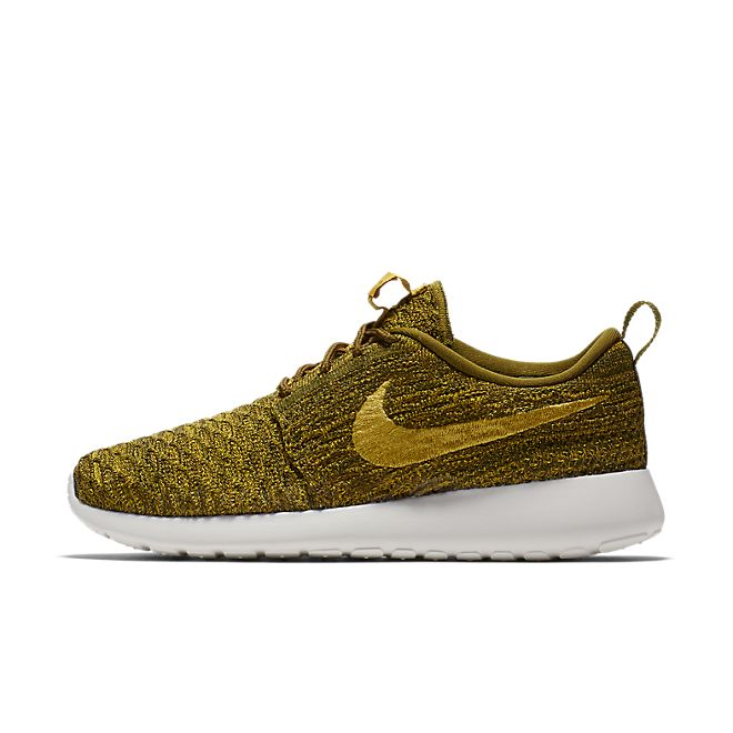 Nike Wmns Roshe One Flyknit (Olive Flak / Gold Lead - Sequoia - Sail)