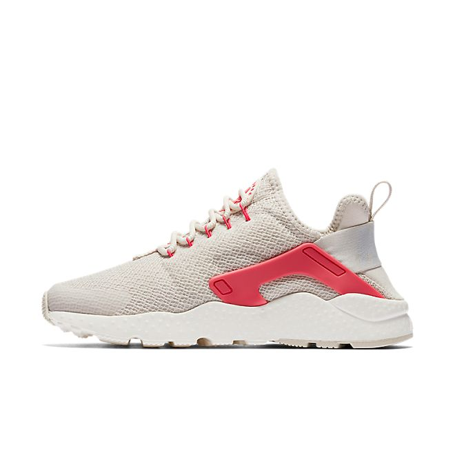 Nike Wmns Air Huarache Run Ultra (Light Orewood Brown / Siren Red - Sa